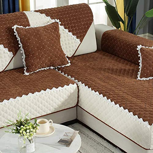 J-Kissen Couch Cover, L-Form Sofa-Abdeckung, sectinal Plüsch Sofa Slipcover, for 3 Kissen Couch, for Hunde, Liebe Sitzverstell- Abdeckung (Color : I, Size : 90x70cm(35x28inch))