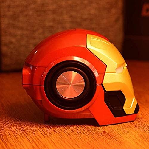 WXHJM Altavoz Bluetooth inalámbrico Iron Man,Iron Man Optimus Prime Altavoz Principal,Portátil Mini HiFi 360 Stereo Subwoofer Barra de Sonido