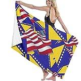li Badetuch, Bosnien und Herzeegovina Flagge mit Amerika Flagge, dekoratives Strandtuch für Erwachsene für Sport, Fitnessstudio, Laufen