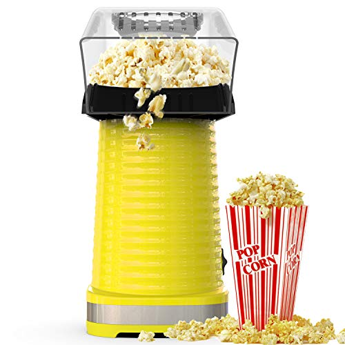 Buy Popcorn Maker Machine, Hot Air Popcorn Popper for Home, No Oil, Healthy Snack for Kids Adults, R...