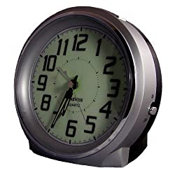 TimeWise Bell Ringer Analog Alarm Clock Silver