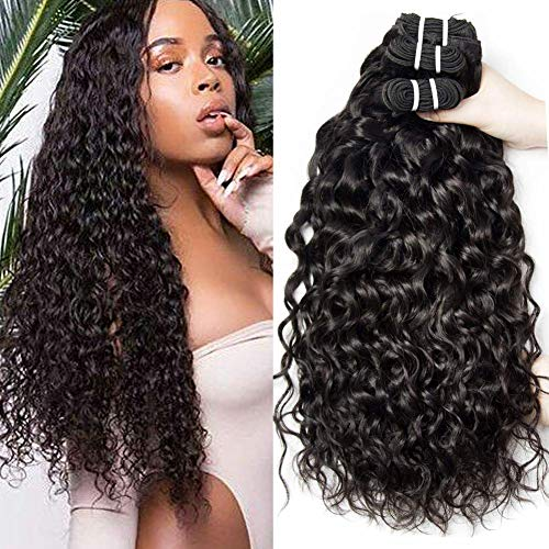 Yavida Wet and Wavy Water Wave Bundles Hair Brazilian Remy Hair Bundles Cheap Curly Weave Human Hair Bundles 16 18 20 Water Wave Human Hair Bundles