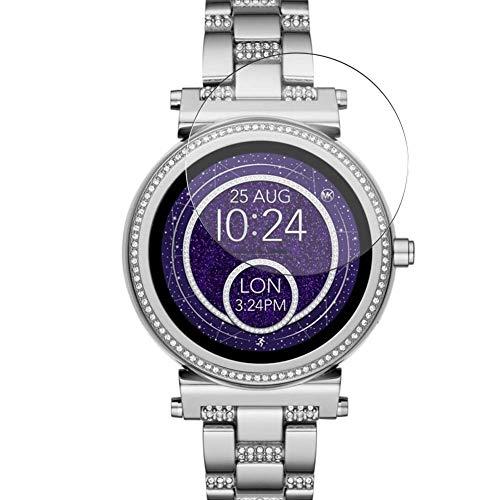 Vaxson 3 Stück 9H Panzerglasfolie, kompatibel mit Michael Kors Access Sofie 2 42mm Smartwatch Hybrid Watch, Panzerglas Schutzfolie Displayschutzfolie