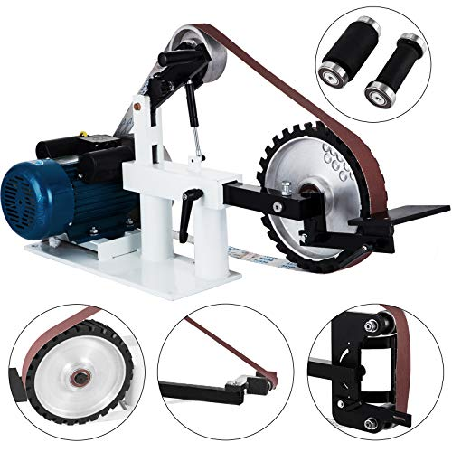 Happybuy 2Hp Constant Speed 2 X 82inch Disc Sander for Knife Making