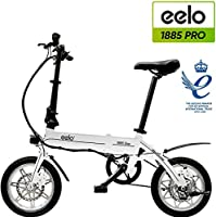 eelo 1885 PRO Folding Electric Bike - Portable Easy to Store in Caravan, Motor Home, Boat. Short Charge Lithium-Ion...