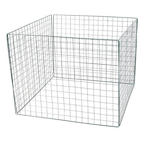 Stahlgitter - Komposter GRÜN - 90x90x70 cm - KLEINE GITTER