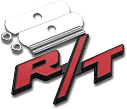3D Metal Red RT R//T Logo For Dodge Ram//Charger Head Fro Grille Emblem Clip Badge