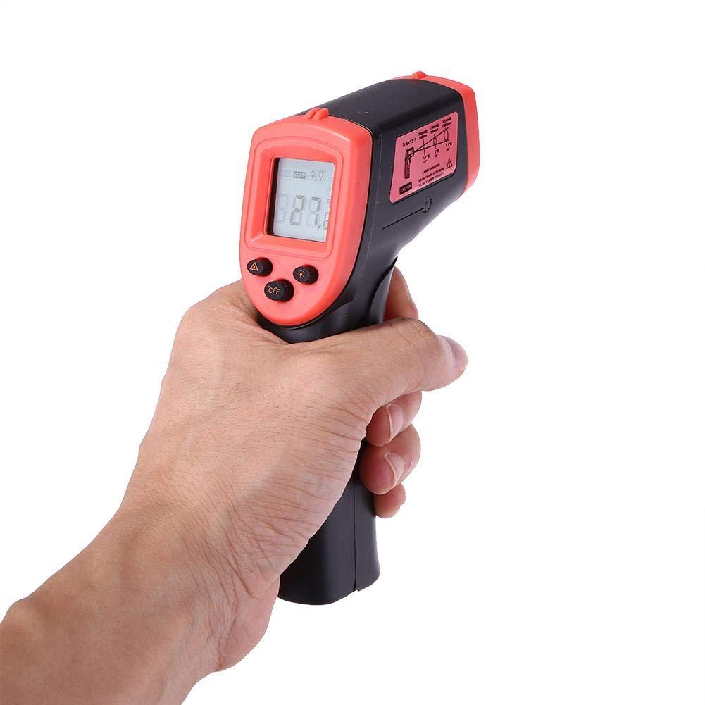 Termómetro Infrarrojo Digital Industrial Sin Contacto -50 °C ~ 380 °C Pistola De Temperatura IR De Alta Precisión Con Pantalla LCD, Para Automoción Industrial, Termostato De Barbacoa