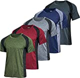 Men's Quick Dry Fit Dri-Fit Short Sleeve Active Wear Training Athletic...