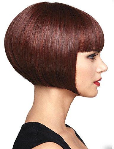 Europäischen Mode Perücken Haar Wein Rot Voga kurze Perücken synthetische Gerade der Damen