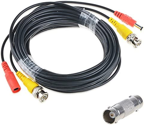AT LCC 50ft Black BNC Connector for Q-See Spasm price Power Wire Video Cord Super-cheap