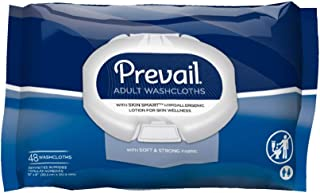 Prevail Disposable Washcloths, Soft Pack w/Press Open Lid, 12 x 8 Inch, WW-710 (Case of 576)