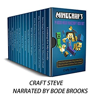 Minecraft: 14 Book Mega Minecraft Box Set audiobook cover art