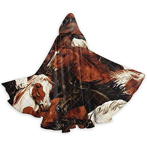 Niet van toepassing Cosplay kostuum, Halloween Cape Cloak,Adult Tunic Hooded,Role Play Dress Up,Brown White Horse Head Devil Witch Wizard Cape,Vampire Costume,Party Hooded Cloak