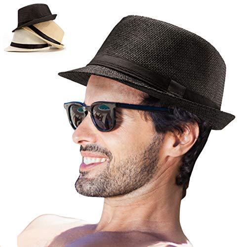 LADYBRO Mens Fedora Hats