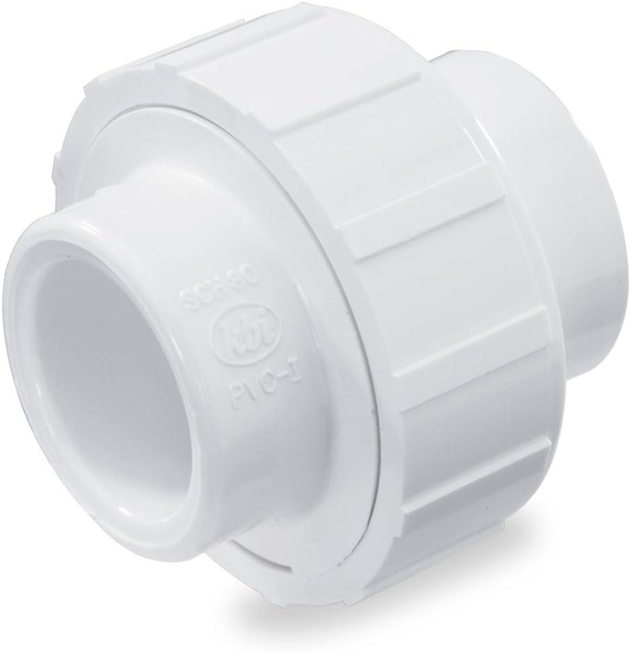 NDS WU-1000-S 1-Inch Slip PVC Schedule 40 Union, White