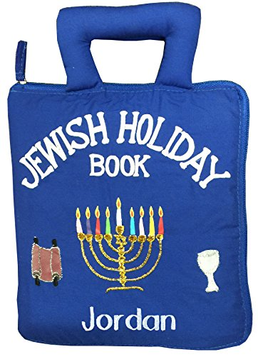 Pockets of Learning Personalized Jewish Holiday Quiet Book, Activity Busy Book for Toddlers and Children