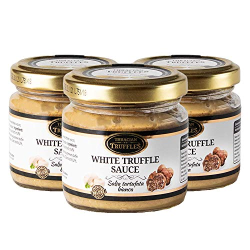 White truffle sauce Witte truffelsaus Tuber borchi Luxe Gourmet voedselsaus Pasta, ideaal voor vlees, gegrild brood, omeletten, pasta, risotto, sushi 3 x 170g