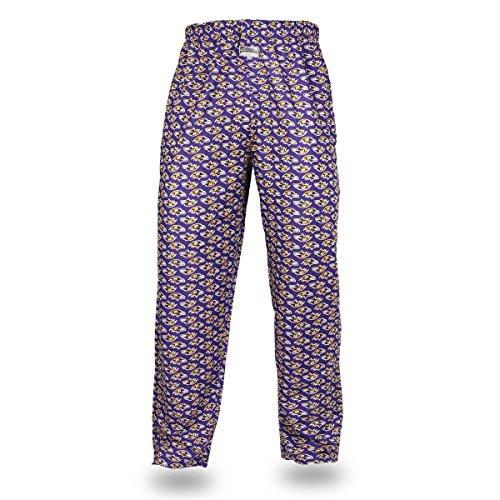 Zubaz NFL Baltimore Ravens Men's Team Logo Print Comfy Jersey Pants, Large, Purple
