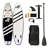 ALIFUN Inflatable Stand Up Paddle Board 10'5'×32'×6' Ultra-Light Standing Boat with Non-Slip Deck, Stand Up Paddle Board, Adj Paddle,Pump,Waterproof Travel Backpack,Leash,Black