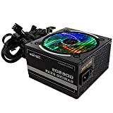 YEECHUN RGB Gaming Power Supply 650W,CX650S 650 Watt RGB Power Supply with RGB Light Memory and Quiet Cooling Fan,Used for Gaming Computer Power Supply
