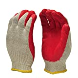 G & F Products 3106-10 String Knit Palm, Latex Dipped Nitrile Coated Work Gloves For General...