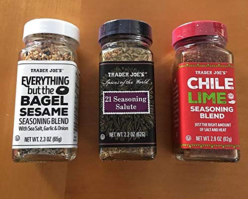 Trader Joe's Seasoning - 21 Salute Seasoning, Chile Lime and Everything but the bagel Seasoning