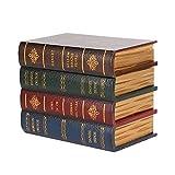 Caja de almacenamiento con forma de libro de simulación vintage (tamaño grande)
