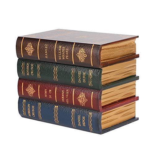 OIHODFHB Caja de almacenamiento de forma de libro de simulación vintage de gran tamaño para decoración de contenedores de joyería
