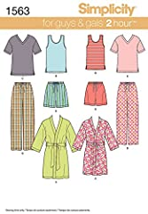 Includes sewing templates, fabric suggestions, sizing guides, and instructions to create (2) tops, (2) bottoms, and (1) robe. Pajama patterns can be made to fit sizes XS, S, M, L, and XL. Comfortable and easy to craft, these pajama patterns are fun w...