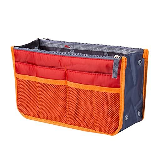 Baobaoshop Reiseeinsatz Handtasche Aufbewahrungstasche Brieftasche Aufbewahrungstasche ordentlich organisiert Umweltschutz Falten Aufbewahrungstasche 5 Farben (Color : Orange)