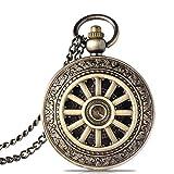 Xu Yuan Jia-Shop Taschenuhr Männer hohles mechanisches Rad Taschen-Uhr-Retro Flip-Taschen-Uhr Roman Skala Taschen-Uhr-mechanische Uhr Geburtstags-Geschenk Retro Taschenuhr