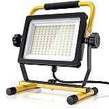 Brandson - 100W LED Baustrahler 144 SMD LEDs – Arbeitsleuchte – Bauscheinwerfer – Baulampe -...