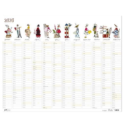 Großer Jahresplaner 2020 aus dem Grätz Verlag, Bürokalender mit Illustrationen von Silke Leffler