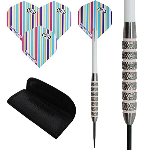 25 g 29 g Tungsten Darts Set 'Pink Damen-Standard Flights, Stängel, Fall.