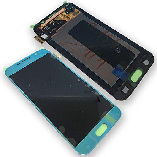 Samsung G920 F Galaxy S6 LCD Touch Screen Display Glas Front blau Original Neu mit Service Pack