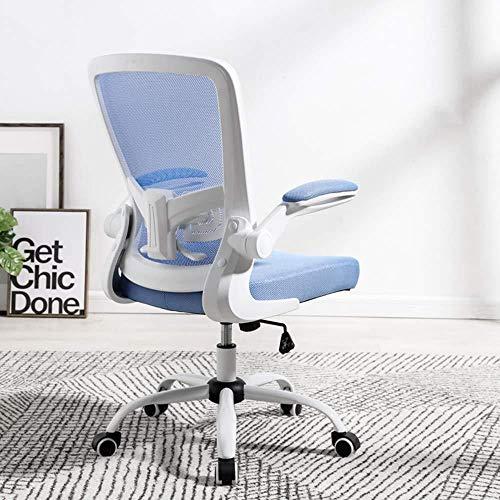 Xiuyun - Silla de escritorio, silla giratoria, escritorio, ordenador ejecutivo, malla, altura ajustable con reposabrazos e inclinación, función para el hogar, conferencia de estudio del trabajo azul