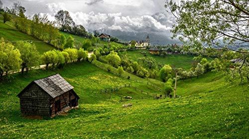 MKmd-s Rompecabezas de 1000 Piezas Transilvania Rumania Juguete Educativo Pintura Decoración