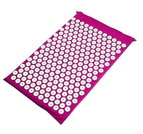 Trihedral-X Yoga Mat Masaje de acupresión Mat for el Alivio del Dolor de Cuello Volver Sensi acupuntura Mat Juego de Almohadas Kuznetsov aplicador Eco Pranamat (Color : Purple Mat)