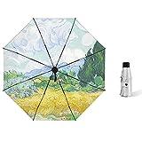 Breakthecocoon Paraguas transparente, paraguas para exteriores con impresión femenina, paraguas resistente al viento, paraguas al aire libre (color: mini)