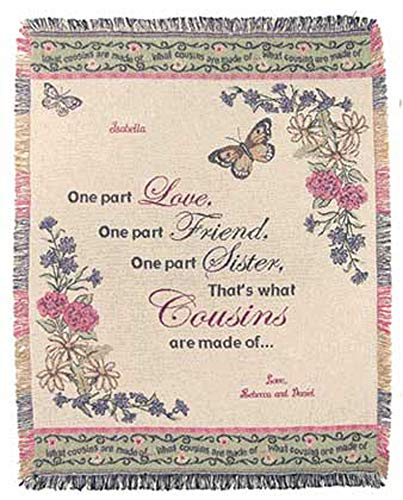 A PLUS MARKETING Personalized Cousin Throw