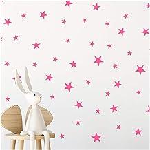 StickerDeen | Baby Roze Ster Stickers Kwekerij Stickers Decoratie Verwijderbare Peel & Stick Muur Art Vinyl Stickers | (Gi...