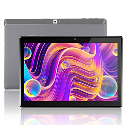 Tablet 10 Pulgadas,Android 9.0, Tablets 10.1, 3G, 4G, HD, WiFi, 32GB RAM, 2GB ROM, GPS, gsm, Quad-Core, Dual SIM Card, 8.0MP (Gris(3G Network))
