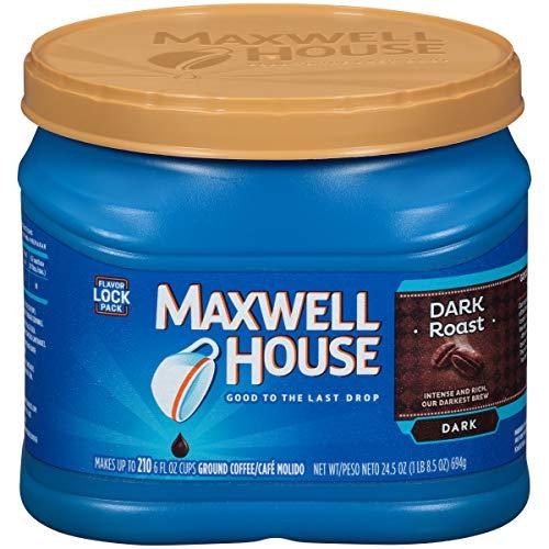 Maxwell House Dark Roast Ground Coffee (24.5 oz Canister)