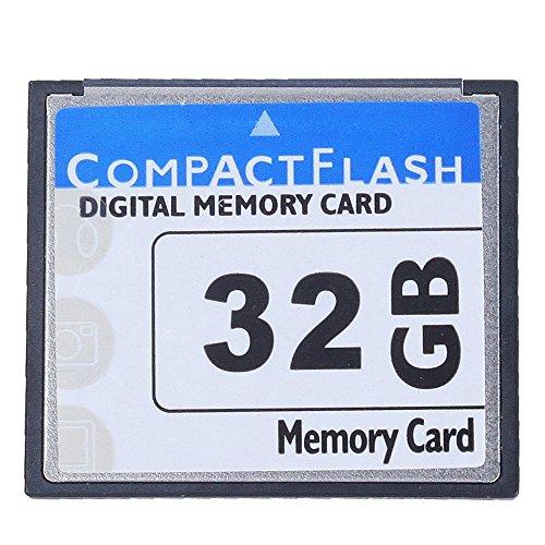 SODIAL Professional Tarjeta De Memoria Compact Flash De 32GB (Blanco & Azul)