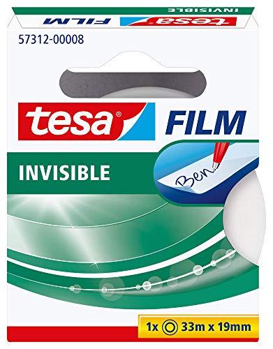 tesa matt-unsichtbar, 33m x 19mm, 1 Rolle in der Hängefaltschachtel, 57312-00008-02, weiß