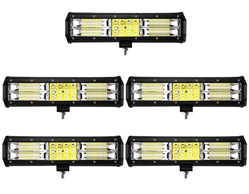 Leetop 5X 180W LED Arbeitsscheinwerfer Off-Road Scheinwerfer Bar Fernlicht 12V-24V Reflektor Lampen IP67 Wasserdicht Zusatzscheinwerfer Flutlicht für Auto Jeep Traktor SUV