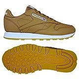 Reebok Cl Leather Mu, Zapatillas de Gimnasia Unisex Adulto, Marrón (FG/Soft Camel/White/Gum FG/Soft Camel/White/Gum), 34.5 EU