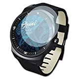 bruni pellicola protettiva per lg g watch r pellicola proteggi, cristallino proteggi schermo (2x)