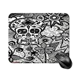 Mouse Pad Sugar Skull Remodel Black and White Candy Skull for Office Computers Laptop Travel Gaming Working Studying Graphic Designers Gaming pc Felt Desk mat yys 1822cm